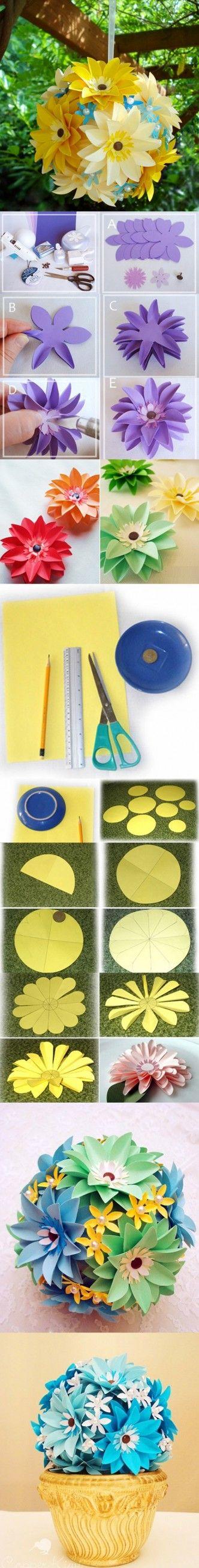 paper flower ball tutorial