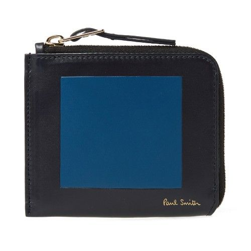 Paul Smith Square Zip Wallet (Navy)