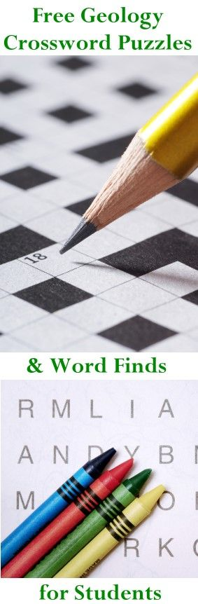 Download free crossword and word find puzzles with different geology themes. These are great for classroom, home school and kids who want to test their knowledge of science. Click here to download a puzzle today: http://www.minimegeology.com/home/mgeo/smartlist_18/free_geology_puzzles.html