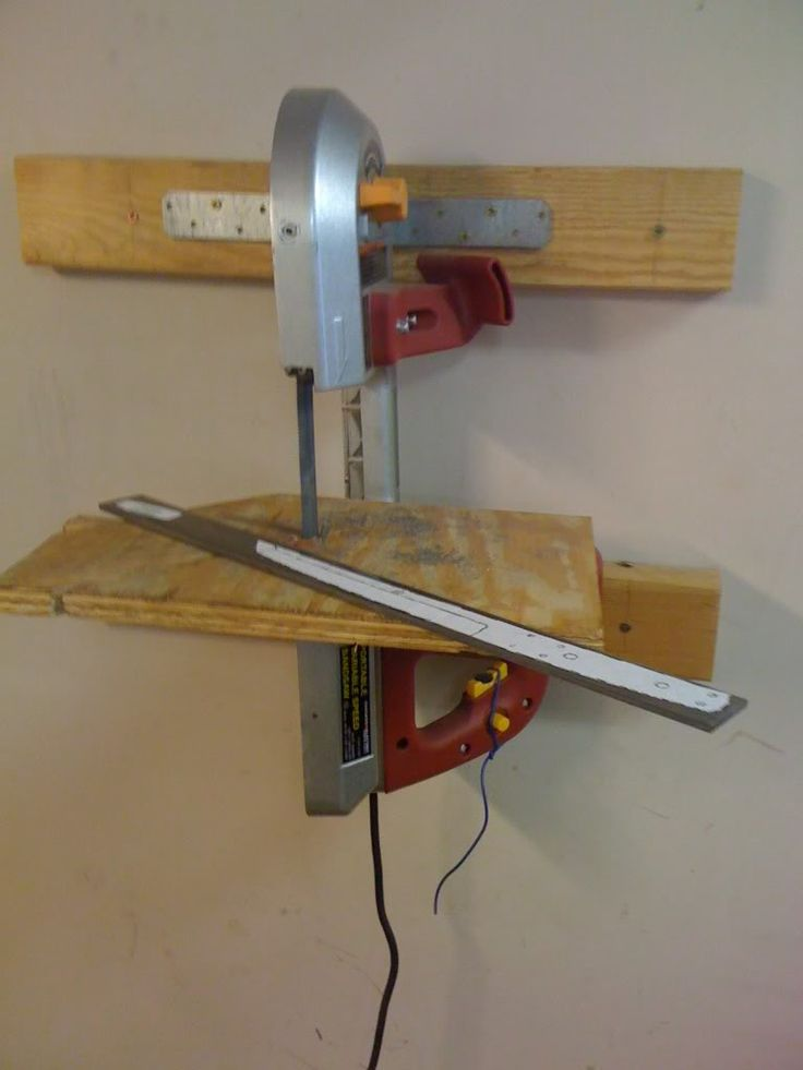 Wall Mounted Portable Band Saw Shop Made Pinterest