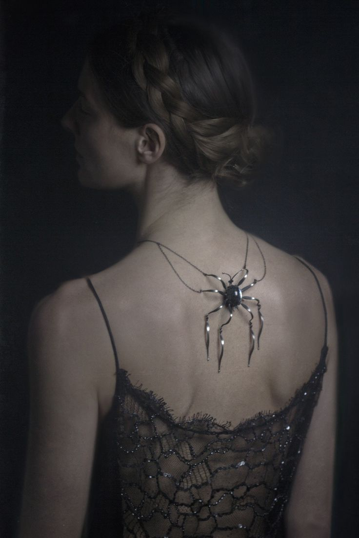 Halloween Gala Celebration....* backside spider adornment *. #gothic princess…