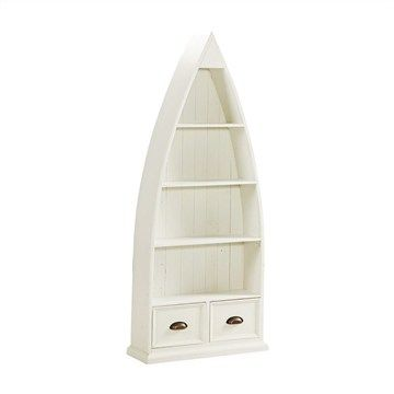 Halsey Solid Pine Timber Boat Bookcase