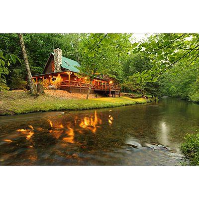 Fightingtown creek feels like it's flowing around you when relaxing at Creekside Veranda.