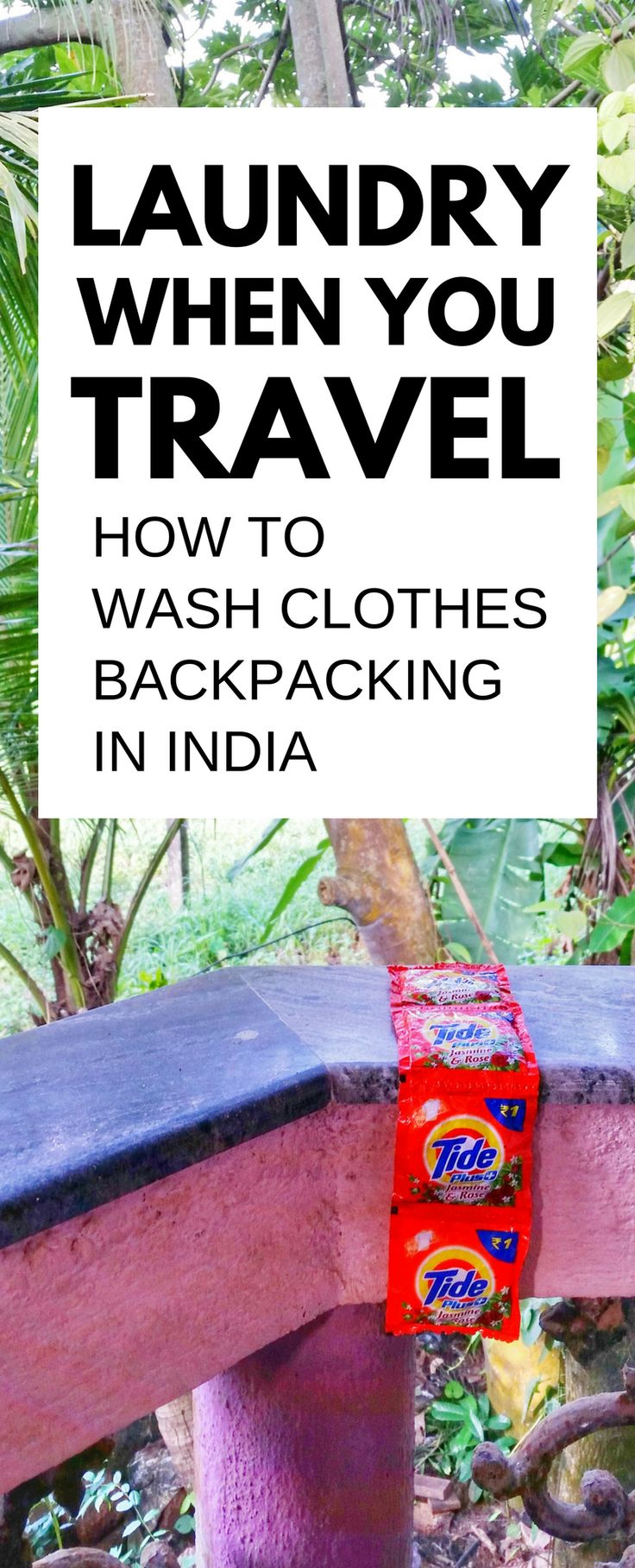 For travel in India for weeks backpacking Asia, you need to wash clothes and outfits. Here are things to do and tips on how to do laundry while traveling cheap. Best places to do may be guesthouse or budget hotel! What to wear in India so clothes will dry quicker! Ideas of what to pack for India and gear to add to international travel packing list for your world adventures and bucket list destinations! Travel Mumbai, Delhi, Rajasthan, Jaipur, Kerala, North India, South India. #india…