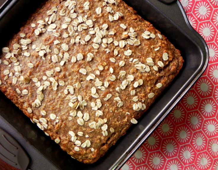 Banana & Oat Breakfast Cake {Healthy Vegan Oatmeal Banana Bread} - Ceara's Kitchen