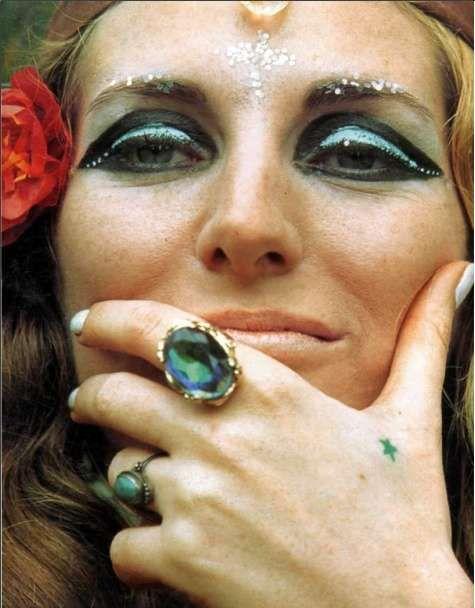Hippie makeup. Макияж в стиле хиппи