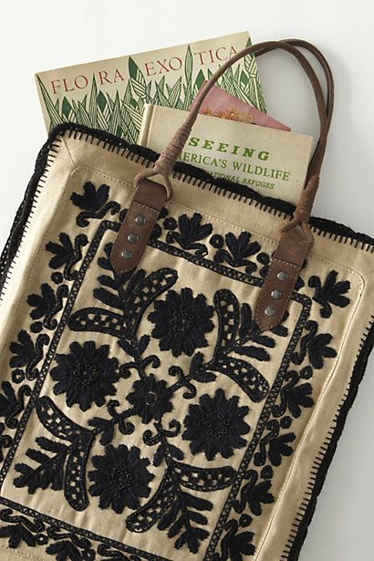 Framed Needlepoint Tote - Anthropologie.com: Books, Fashion, Embroidered Totes, Style, Totes Bags, Awesome Handbags, Embroidered Bags, Frames Needlepoint, Needlepoint Totes