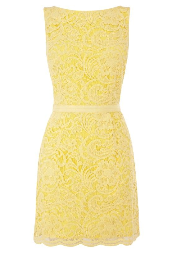 Yellow lace dress? Dont mind if I do!