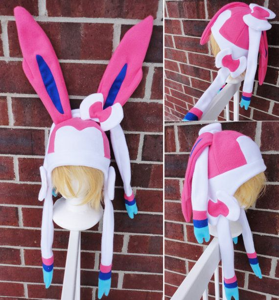 Sylveon and Shiny Sylveon Pokemon Hat A nerdy geekery by Akiseo