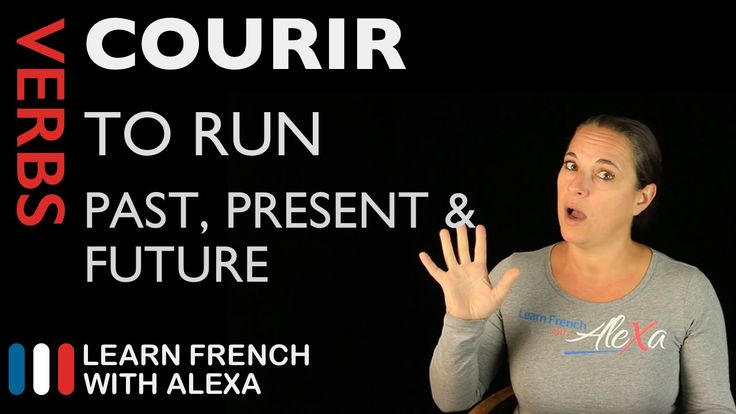 Courir (to run) — Past, Present & Future (French verbs conjugated by Lea...