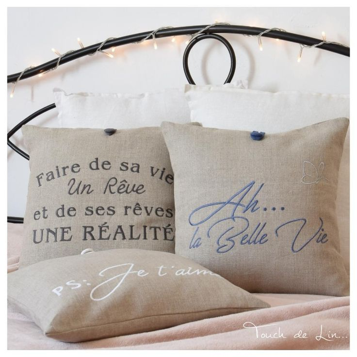 Coussin 100 % lin