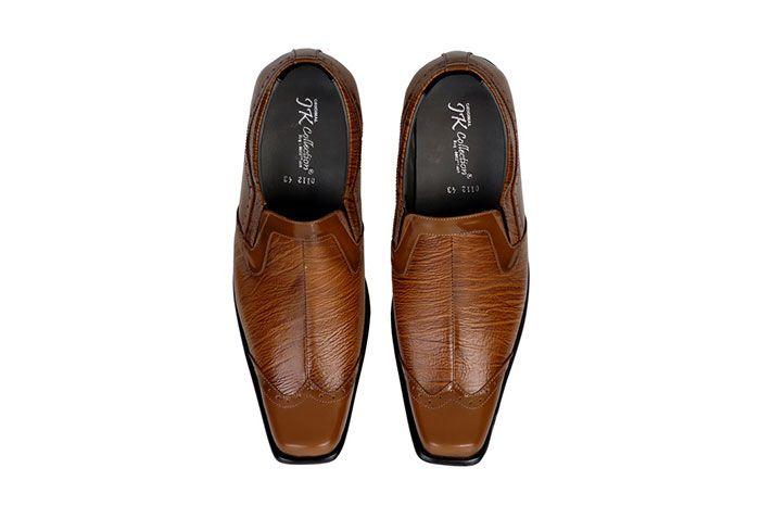 Sepatu Formal Pria Bahan Kulit Warna Coklat 8211 Jar 112