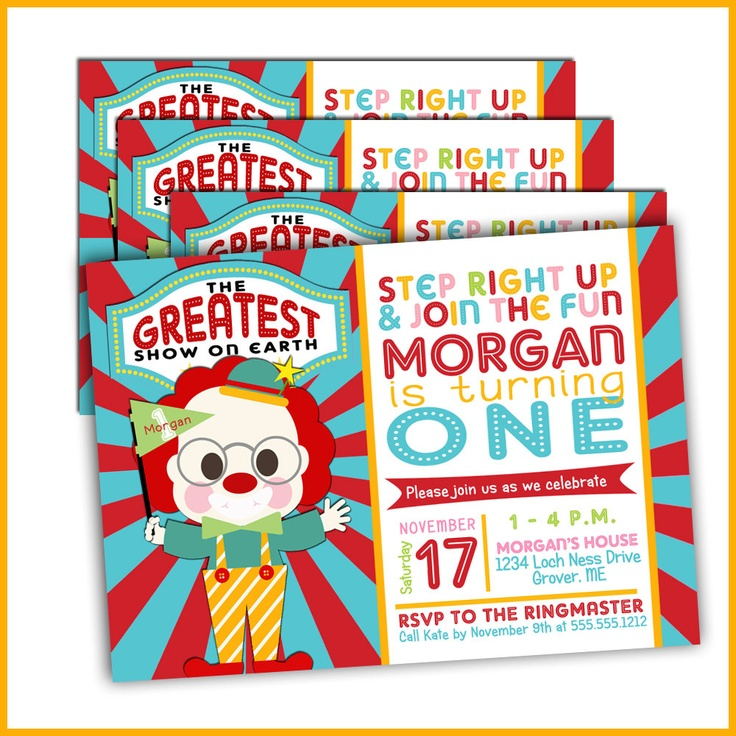 17 best ideas about Circus Birthday Invitations – Invitations for Birthdays