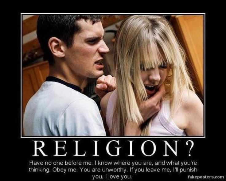 is religion like and abusive relationship