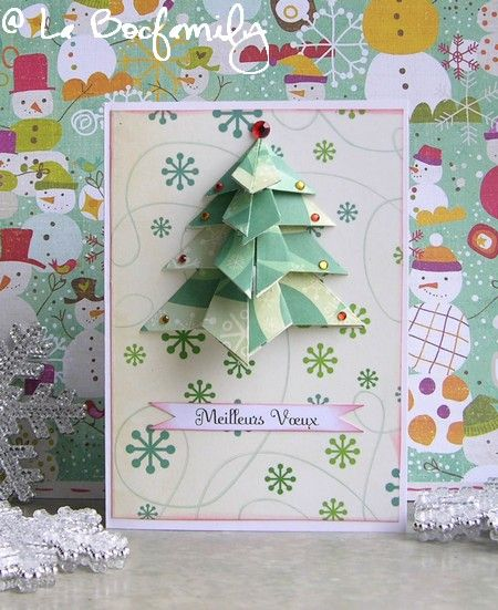 TUTO : Carte Sapin en origami - La Bocfamily