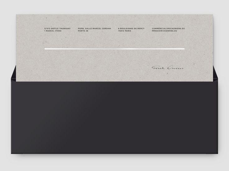 Rick Owens Cartons d'invitation — Notter + Vigne
