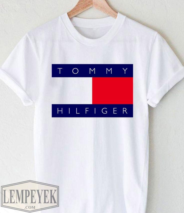 Tommy hilfiger t shirt unisex adult size s 3xl men and for Tommy hilfiger shirt size chart