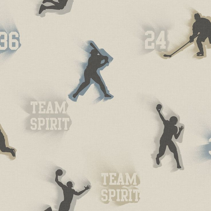 Totally for Kids 16.5' x 20.5'' Glavine Sports Figures Toss Wallpaper