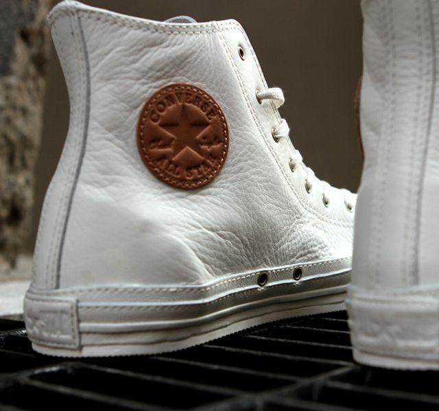 white, leather high-top chucks! Fancy - Converse Chuck Taylor Premium
