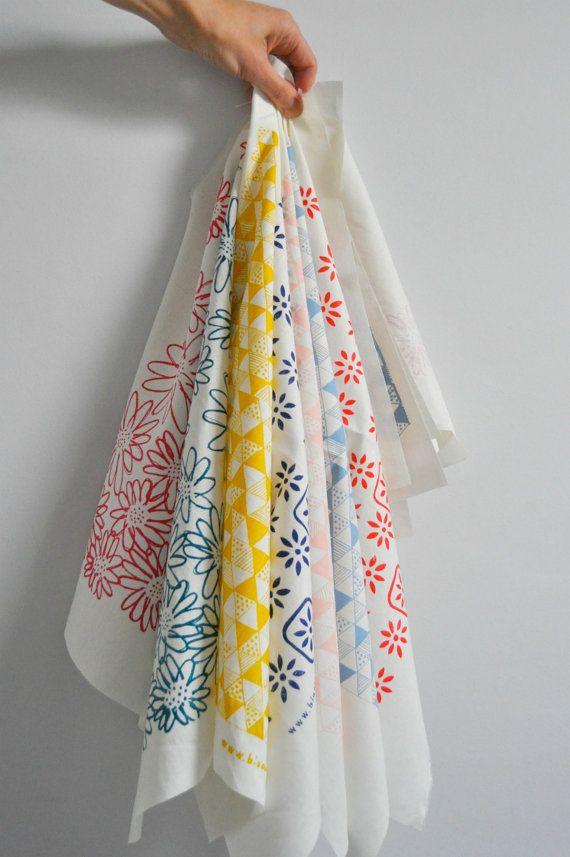 screen printed fabrics...