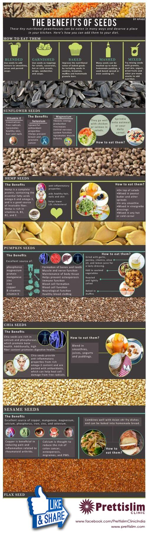 The Healthy Benefits of Seeds