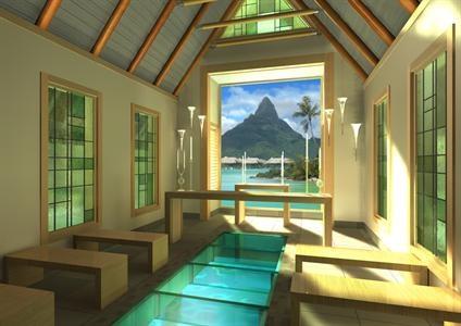 Wedding Chapel at the InterContinental Bora Bora & Thalasso Spa