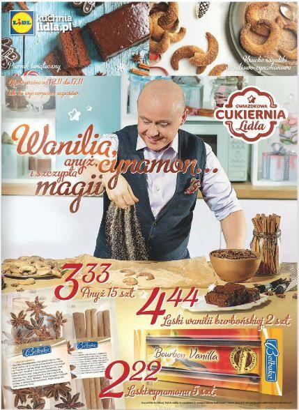 Takich smakołyków nie można przegapić. Lidl otula się zapachem waniliowo-cynamonowym i zaprasza do zakupu przepysznych delikatesów. W gazetce znajdziecie także sprzęt muzyczny, chociażby gitary ;). http://www.promocyjni.pl/gazetki/11873-wanilia-cynamon--gazetka-promocyjna