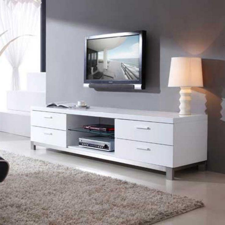 B- Modern Promoter TV Stand - BM-120-WHT