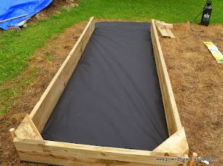DIY Raised Garden Bed  When making a raised garden bed, it is always best to use a weed block to prevent bugs & weeds from coming up into your bed.