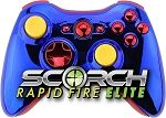 Superman Themed Scorch Elite Rapid Fire Controller for Xbox 360