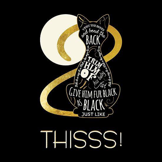 Hocus Pocus art. Twist the bones and bend the back! Hocus Pocus Cat Spell - Just. Like. This!