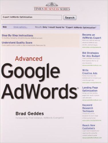 This is the ultimate guide for those who want to move beyond AdWords basics to learn and apply the advanced techniques and tactics that Googles expert consultant teaches to Fortune 500 companies in hi                                                                                                                                                     More