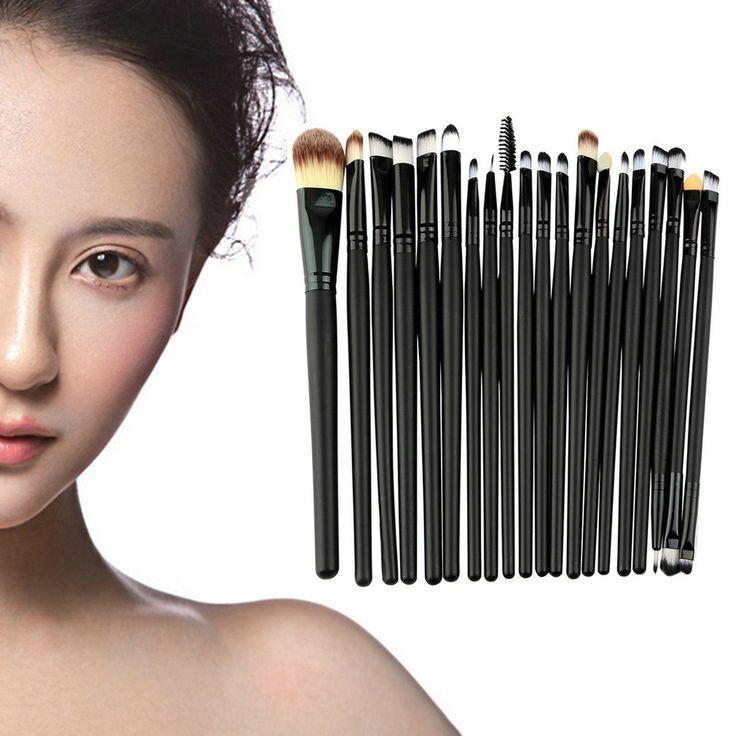 Heißer Verkauf 20 Stücke Verfassung Powder Foundation Lidschatten Eyeliner Lip Kosmetik Pinsel Set