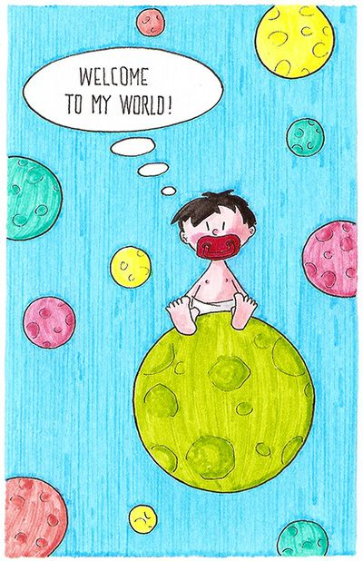 """Welcome to my world!""  New baby born greeting card  armoliacrafts"