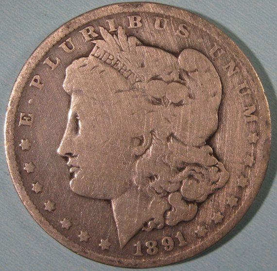 Morgan Silver Dollar Coin 1891 O Silver Dollar by ThatsOldMoney