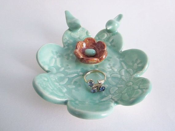 Handmade ceramic engagement ring holder from Ali's Pots