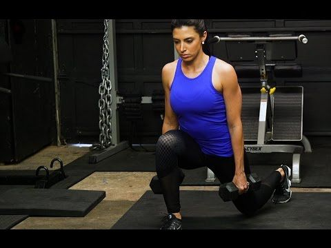 by extending your lunge stride and using a zigzag pattern