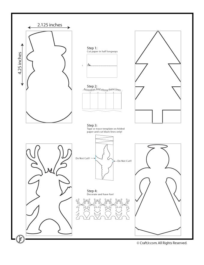 Natale Carta Catene di Natale di carta Catena Template - Craft Jr.