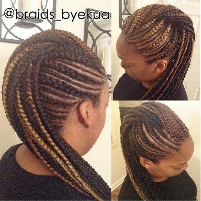 Braided Mohawk Cornrow Mohawk Box Braids Styling Hair
