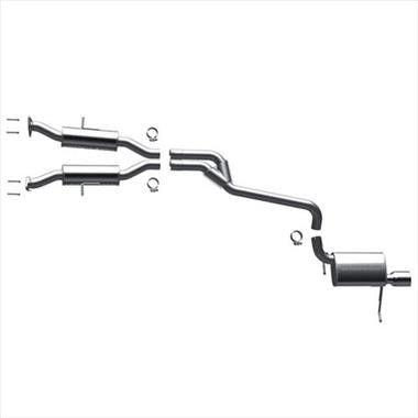 Jeep Grand Cherokee WK2 (3.6L V6 220 CID FLEX) Magnaflow Stainless Steel Cat-Back Performance Exhaust System