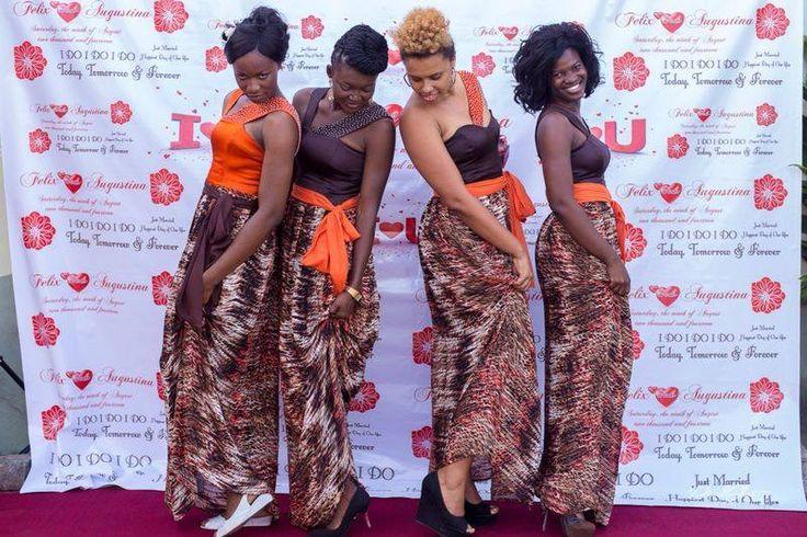 Bridesmaids designs from AfriqUniq. AfriqUniq clothing on Facebook.