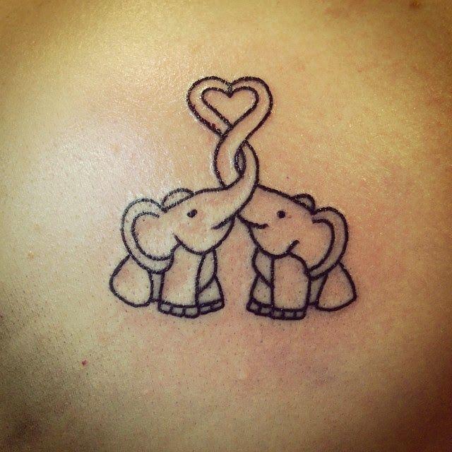 Cool Small Elephant Tattoo Idea