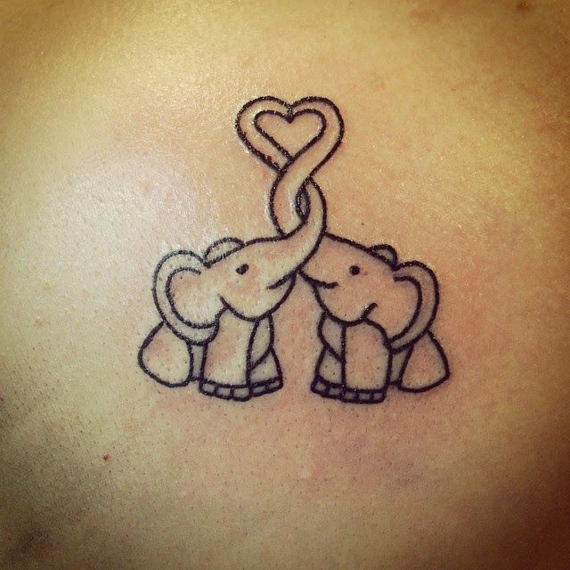 Cool Small Elephant Tattoo Idea