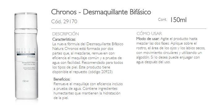 CHRONOS-DESMAQUILLANTE BIFASICO