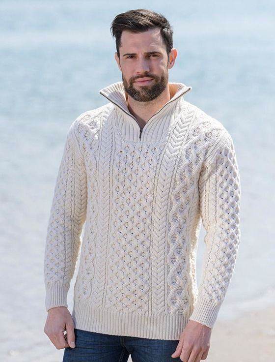 Merino Wool Aran Troyer | Мужчинам | Pinterest | Sweter, Tejidos y ...