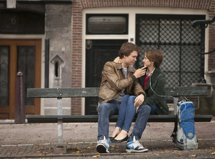 Gus and Hazel, The Fault In Our Stars from The 59 Best Movie Couples of All Time  Love blooms between two high-schoolers who are also battling cancer.
