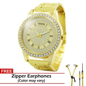 Buy Geneva Jaden Stainless Steel Watch BUS088 (Gold) with FREE Zipper Earphones online at Lazada. Discount prices and promotional sale on all. Free Shipping.