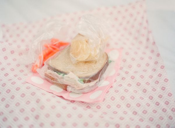 Picnic birthday party---individual lunches wrapped in fabric!