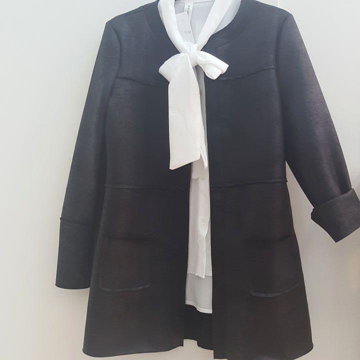 #newwww #giacca #lunga #cappotto #aperto #blazer #effetto pelle #invecchiata #valeria #abbigliamento