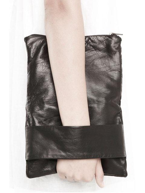 Rad Hourani Unisex Leather Foldover Clutch